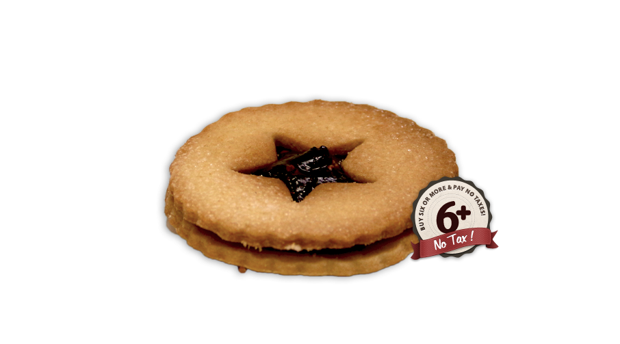 Raspberry Jam  Shortbread Cookie x6