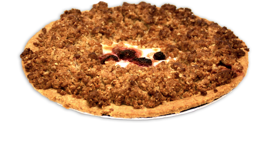 Strawberry Rhubarb &  Sour Cream Pie